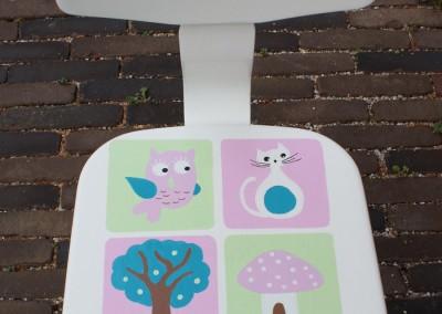 Geboortekaartje op stoeltje Lieve