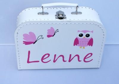 Koffertje met naam Lenne