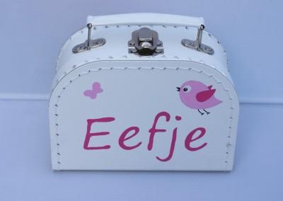 Koffertje met naam Eefje