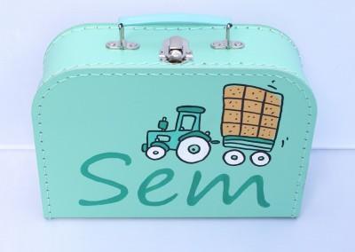 Koffertje met naam Sem