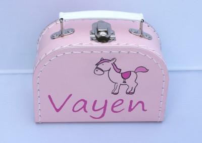 Koffertje met naam Vayen