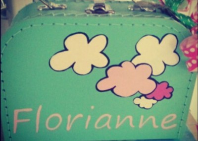 Koffertje met naam Florianne