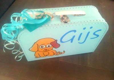 Koffertje met naam Gijs