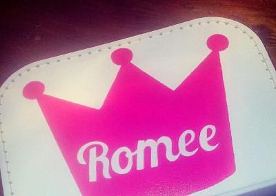 Koffertje met naam Romee