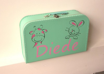 Koffertje met naam Diede