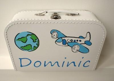 Koffertje met naam Dominic