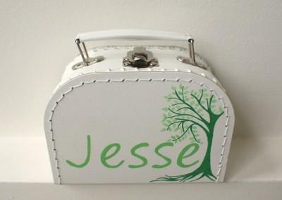 Koffertje met naam Jesse