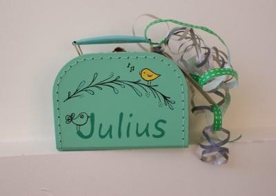 Koffertje met naam Julius