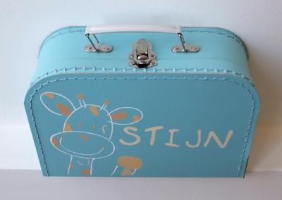 Koffertje met naam Stijn