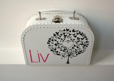 Koffertje met naam Liv
