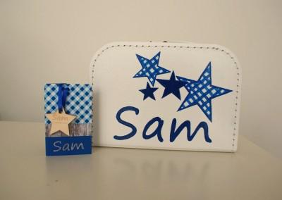 Koffertje met naam Sam