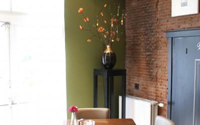 Muurschildering op maat gemaakt voor Restaurant Boschbeek