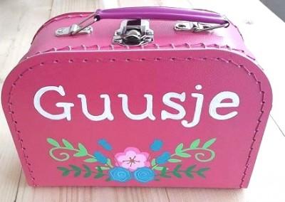 Koffertje met naam Guusje