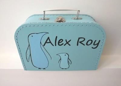 Koffertje met naam Alex Roy