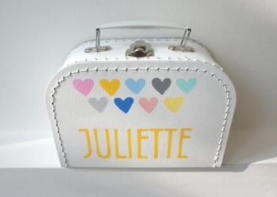 Koffertje met naam Juliette