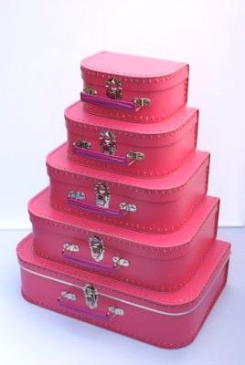 Koffertjes fucsia roze