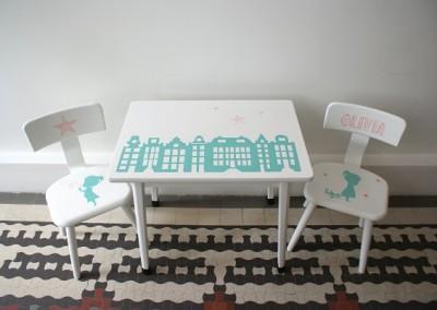 Setje stoeltjes en tafeltje Olivia