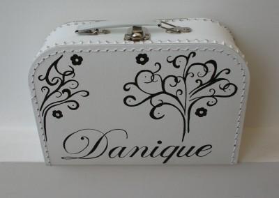 Koffertje met naam Danique