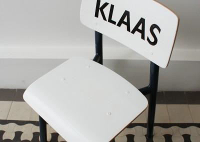 Stoeltje met naam Klaas