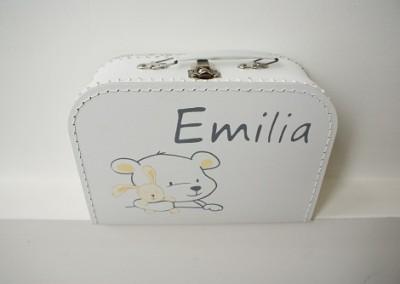 Koffertje met naam Emilia