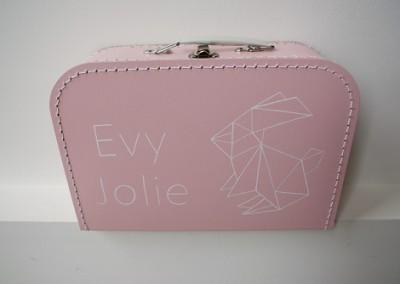 Koffertje met naam Evy-Jolie